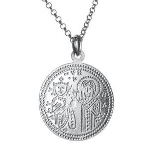Αυθεντικό Χειροποίητο Μονό Κωνσταντινάτο Ασήμι 925 - Ά όψη