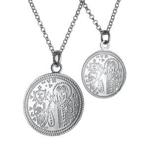 Αυθεντικό Χειροποίητο Διπλό Κωνσταντινάτο Ασήμι 925 - Ά όψη