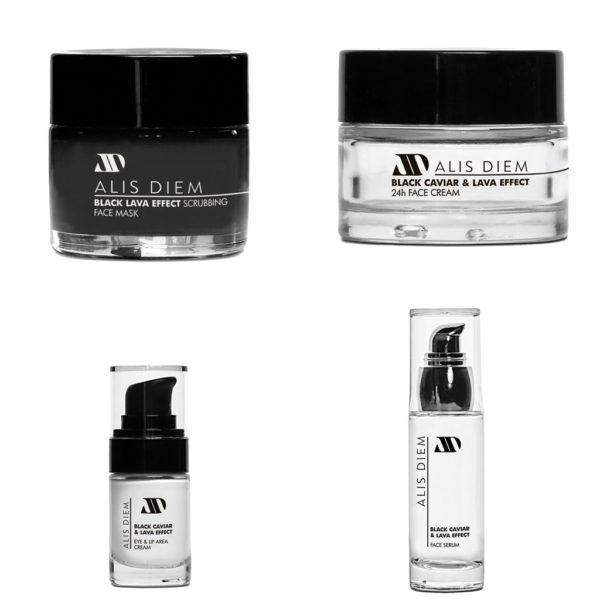 Black Caviar & Lava Effect Creams - Πακέτο όλη η σειρά προϊόντων