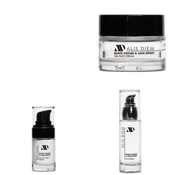 Black Caviar & Lava Effect Creams - Πακέτο 3 προϊόντα της σειράς